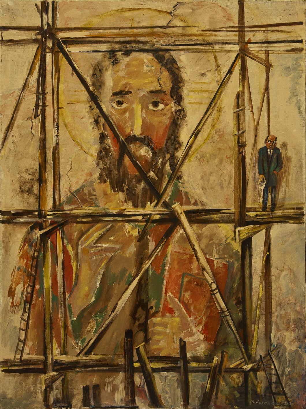 Михайло Безпальків. Реставрація, 1990. Олія, полотно;79х105