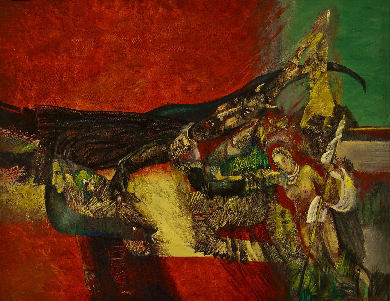 Михайло Безпальків. Викрадення Європи, 2006. Олія, полотно; 70х90