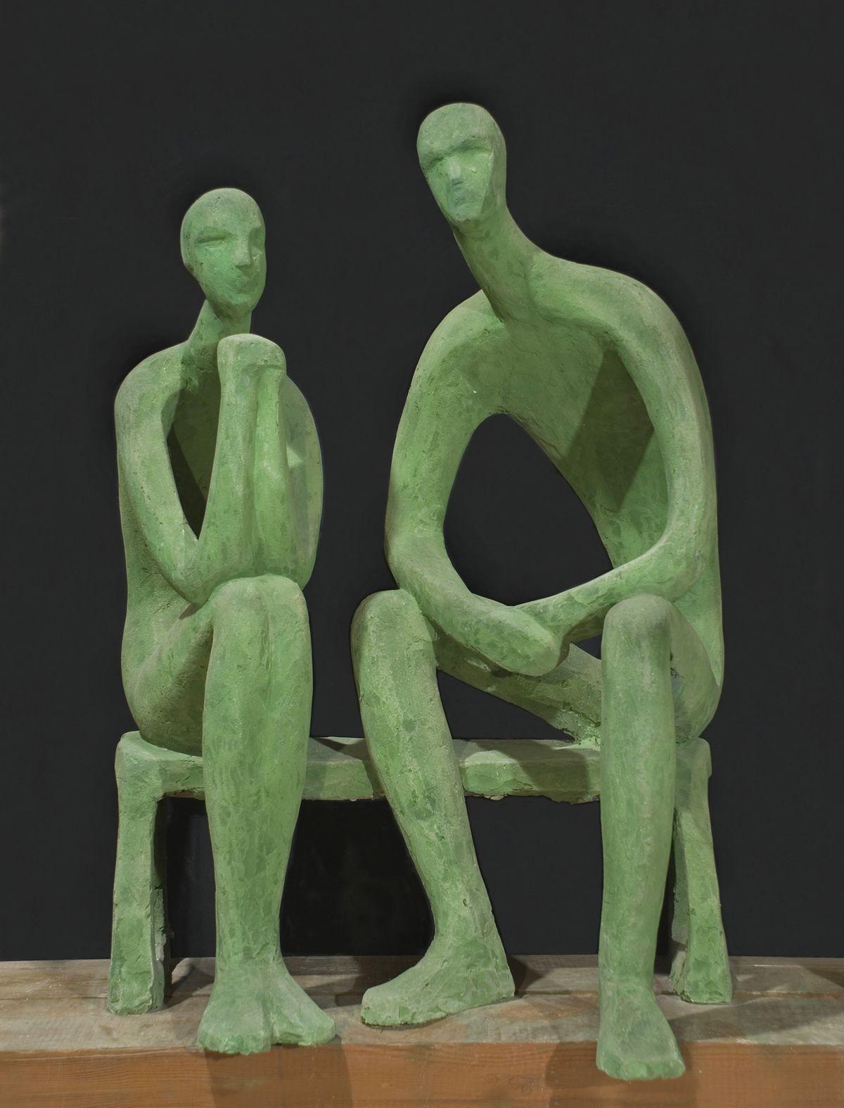 Теодозія Бриж. Двоє, 1967, бетон