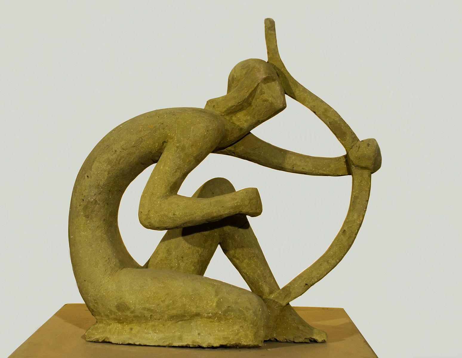 Теодозія Бриж. Лучник, 1976, гіпс