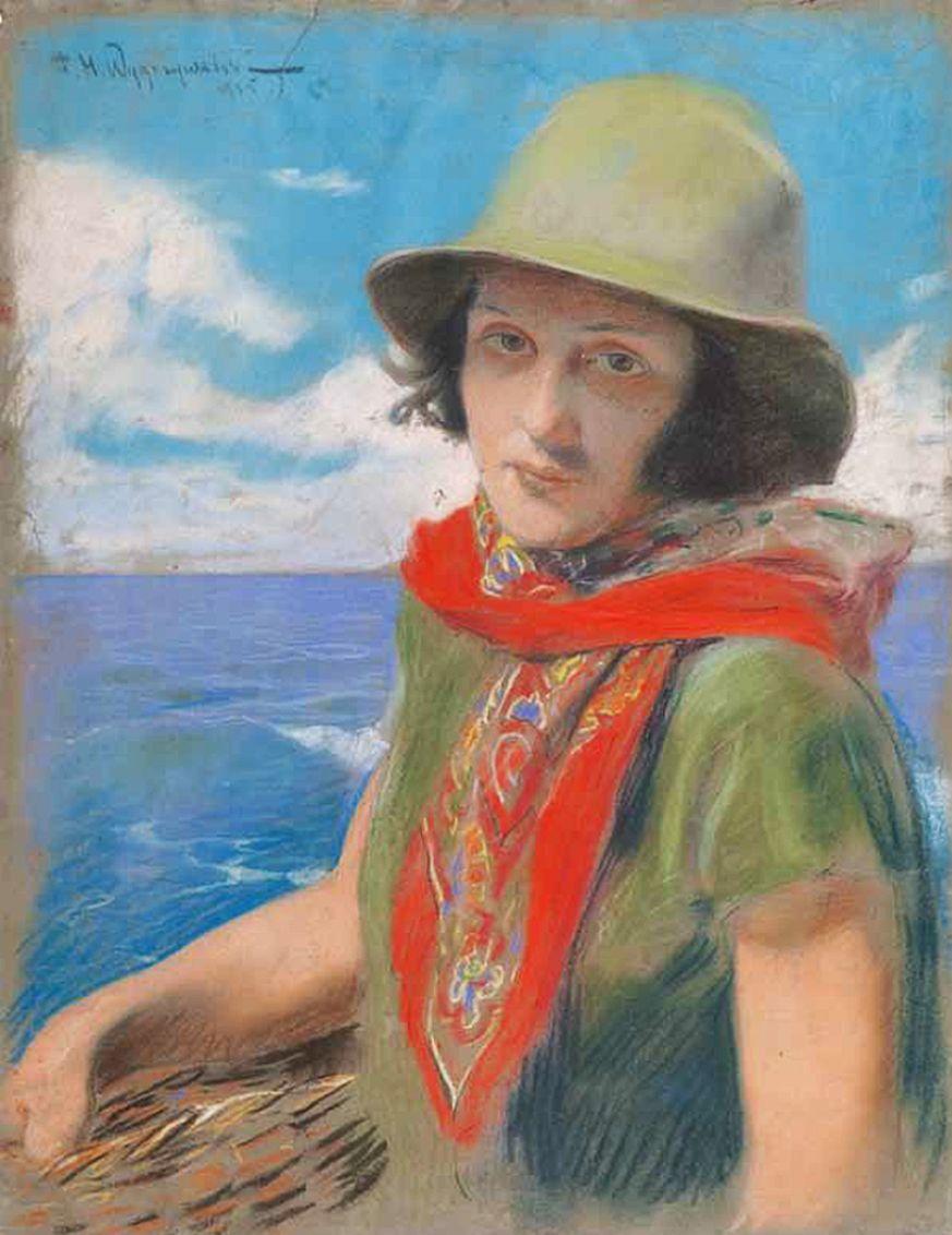 Фелікс Вигживальський. Портрет дружини, 1925