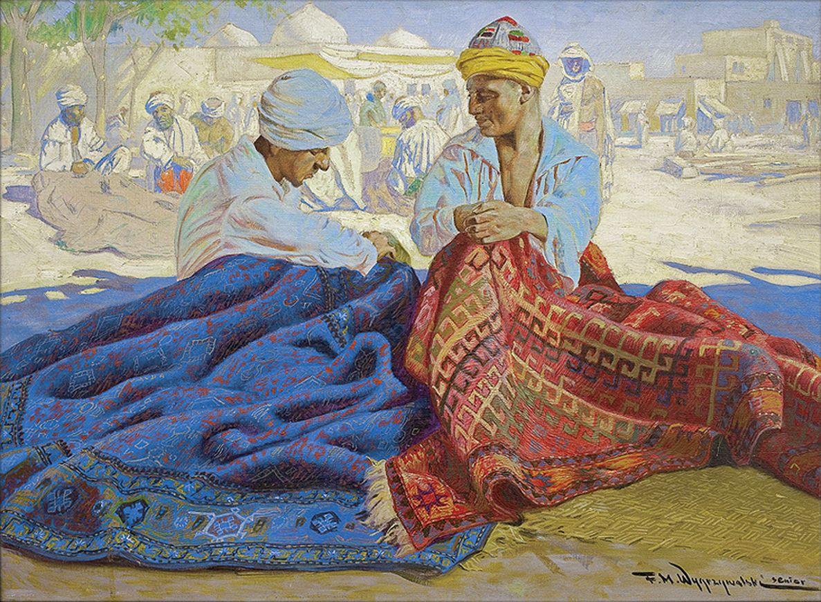 Фелікс Вигживальський. Продавці килимів, 1930-ті