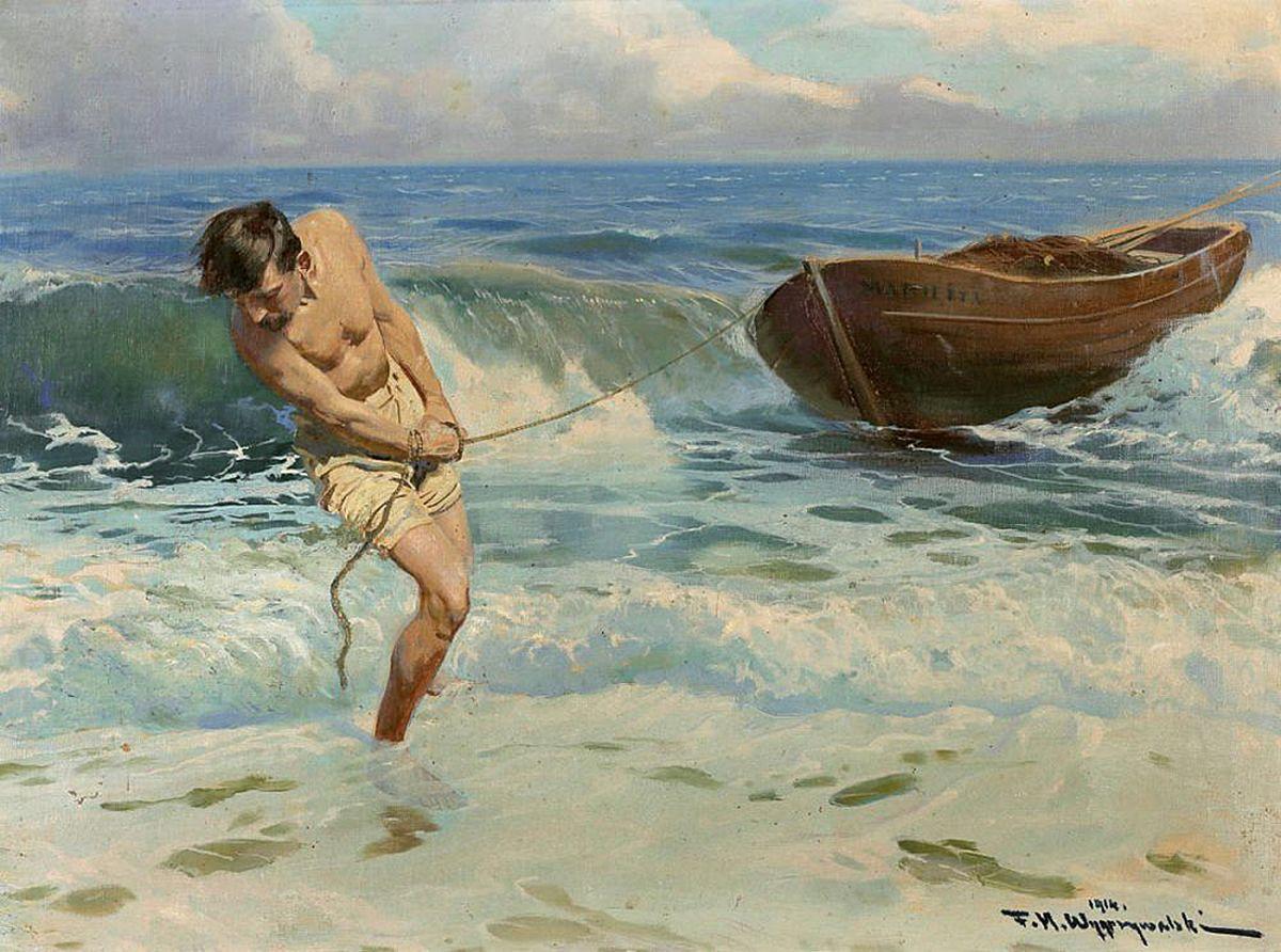 Фелікс Вигживальський. Той, що витягає човен на берег