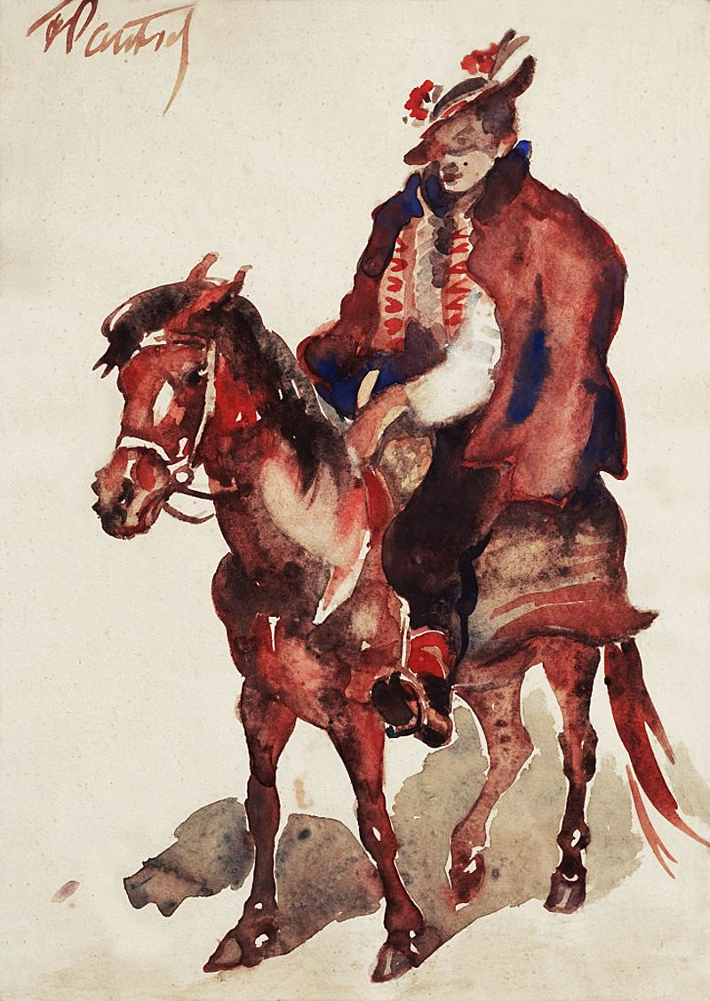 Фредерік Паутч. Гуцул на коні