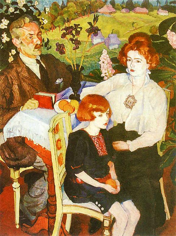 Фредерік Паутч. Автопортрет з родиною, 1919