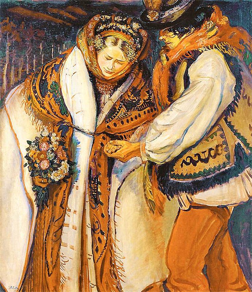 Фредерік Паутч. Весільна пара, 1910