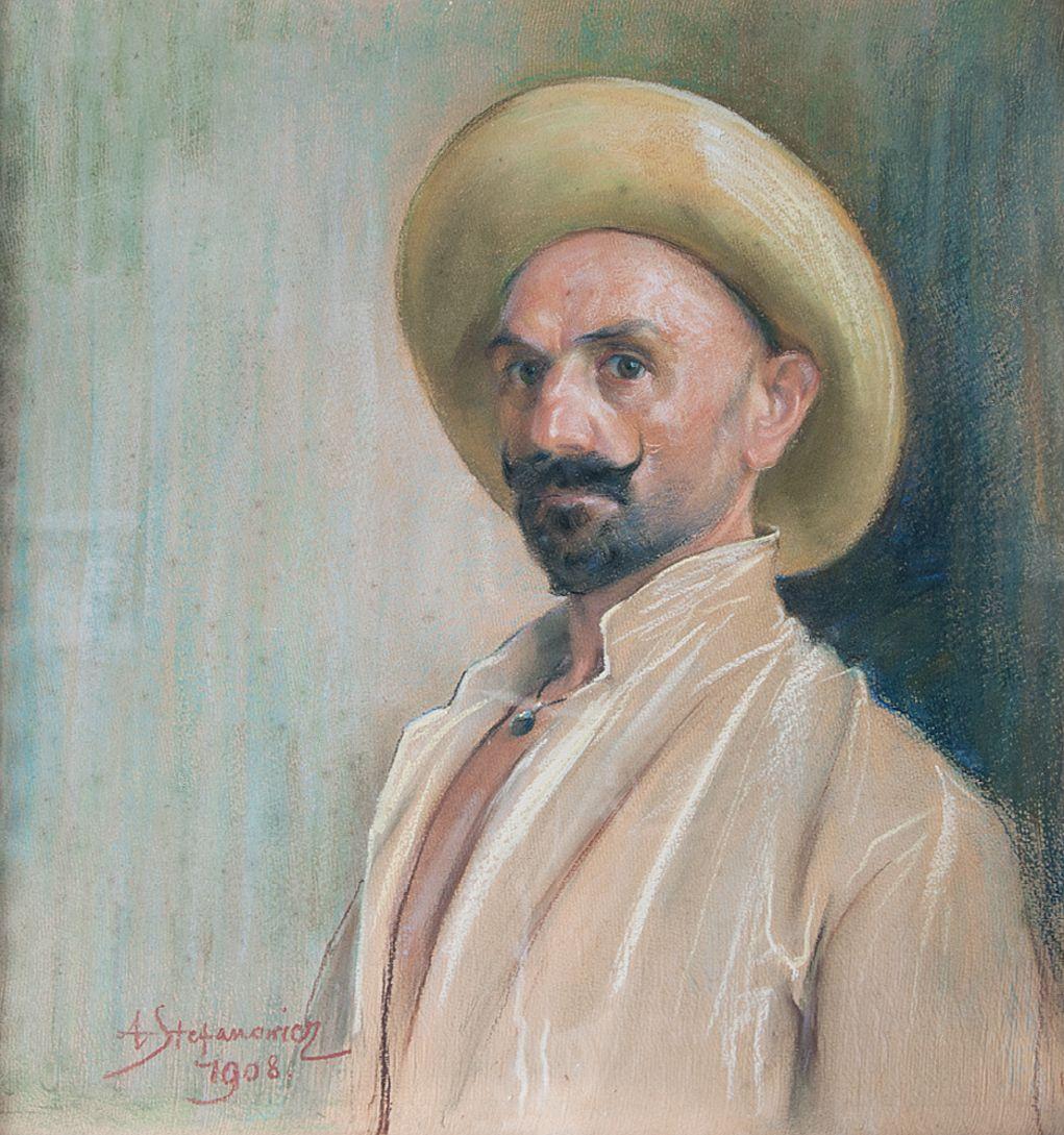 Антоні Стефанович. Автопортрет, 1908