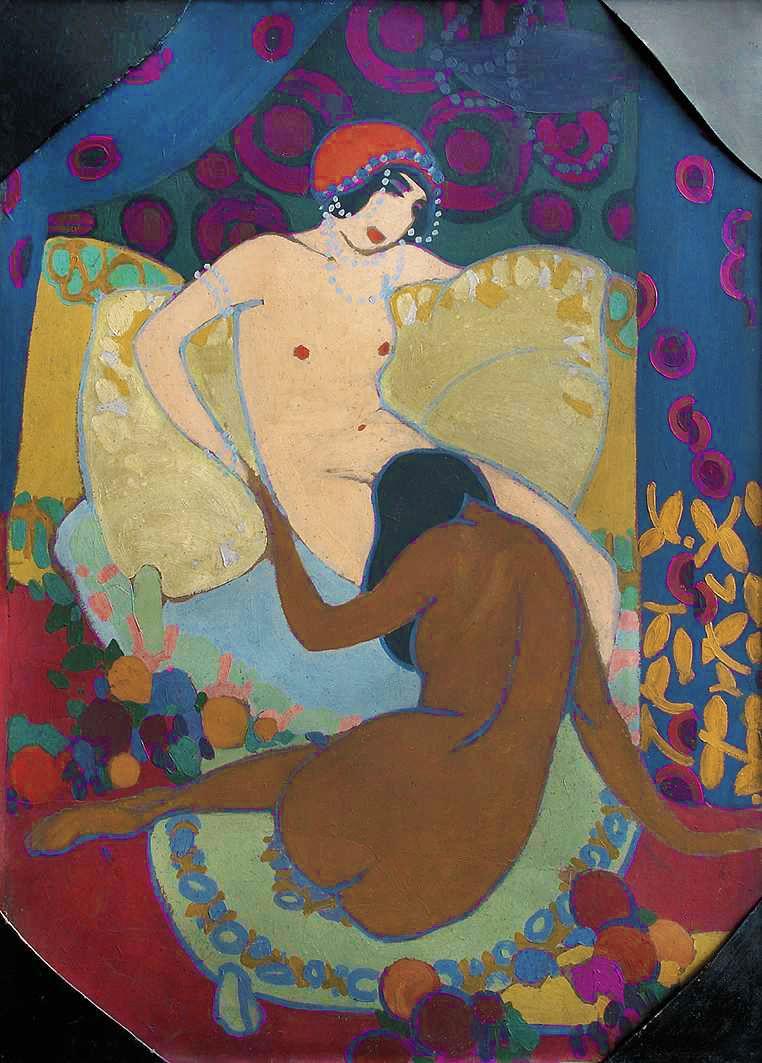 Каєтан Стефанович. Дві жінки, 1913