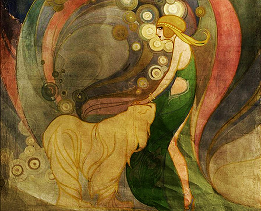 Каєтан Стефанович. Жінка і медвідь, 1912-13