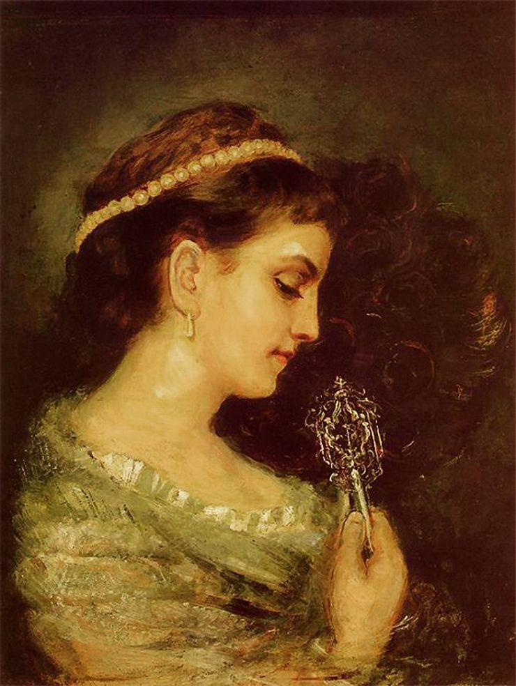 Маурицій Ґотліб. Дама з віялом, 1877