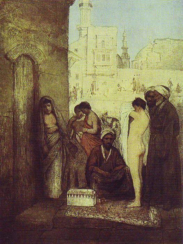 Маурицій Ґотліб. Ринок рабів у Каїрі, 1877
