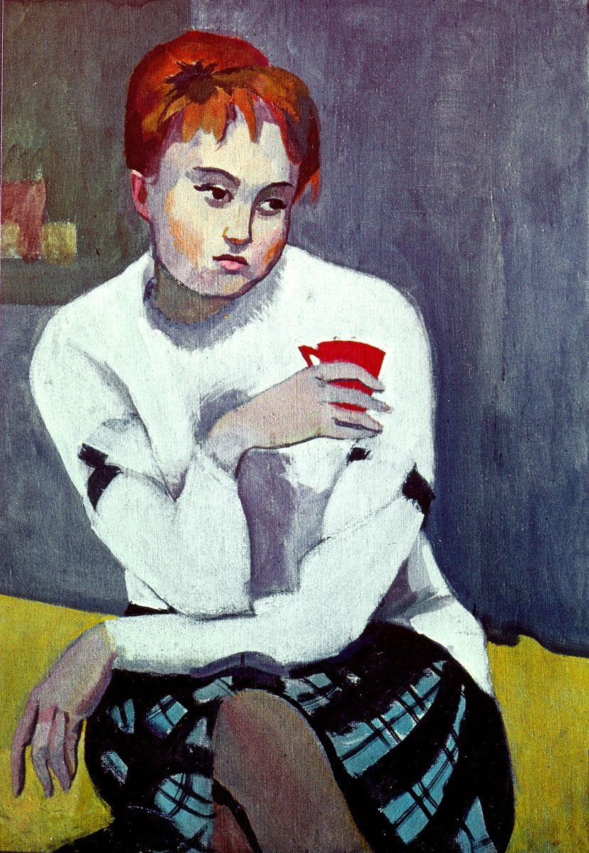 Ростислав Сильвестров. Портрет дівчини