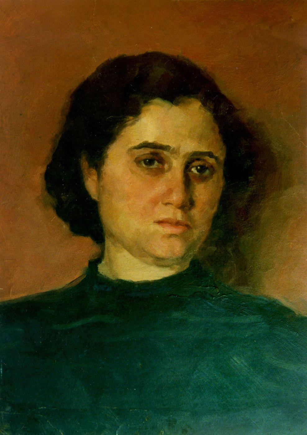 Ростислав Сильвестров. Портрет дружини