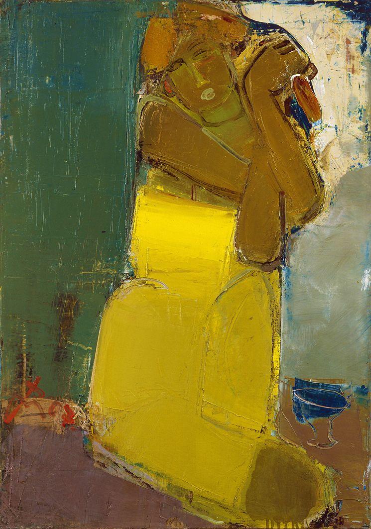 Сергій Гай. Дівчина в жовтій сукні, 2007; п,о