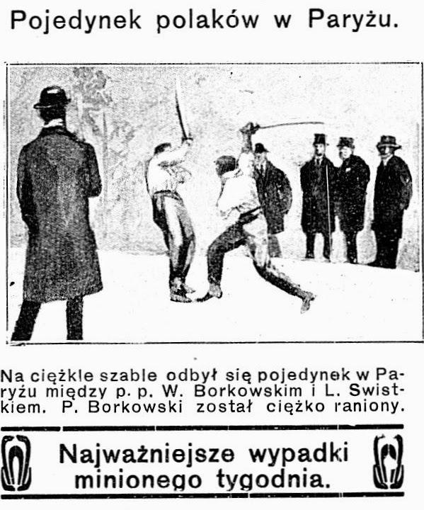 дуель на мечах Леона Хвістека та Владислава Дуніна-Борковського