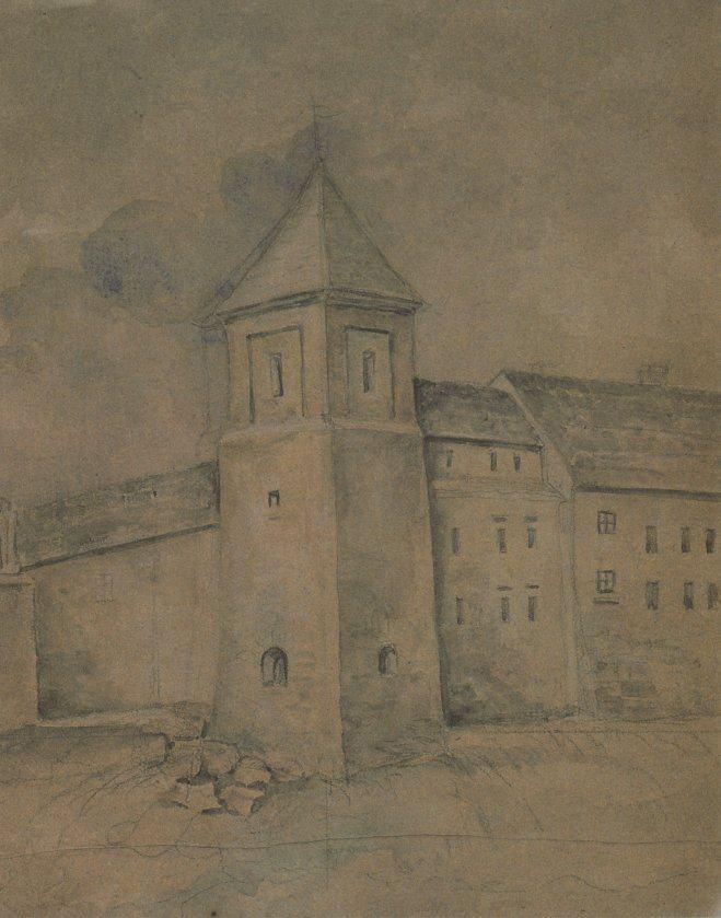 Францішек Ковалишин. Вежа Римарів (нині не існує). Акварель