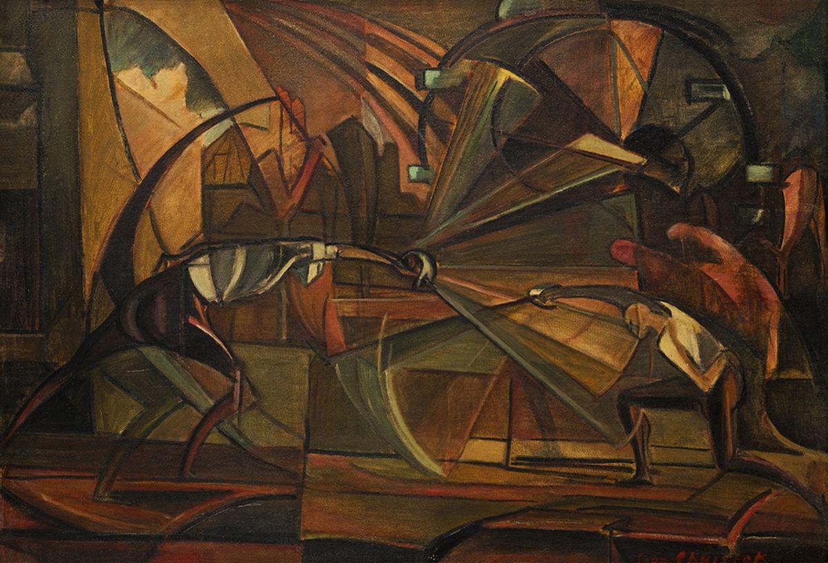 Леон Хвістек. Фехтування, 1919
