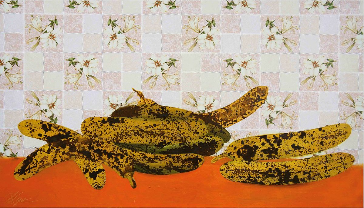 Роман Жук. Банани на помаранчевому столі, 2008