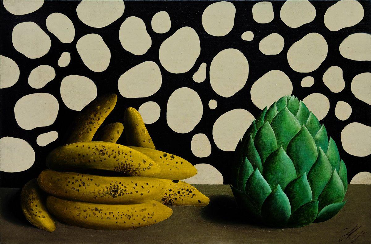 Роман Жук. Натюрморт з бананами, 2000