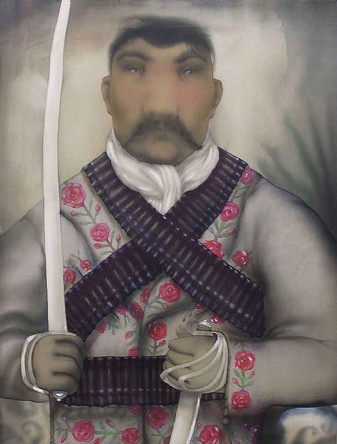 Анна Атоян. Парадний портрет генерала Сапати, 2011, шовк