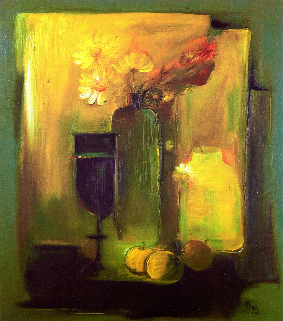 Євген Манишин. Натюрморт з яблуками, 1995