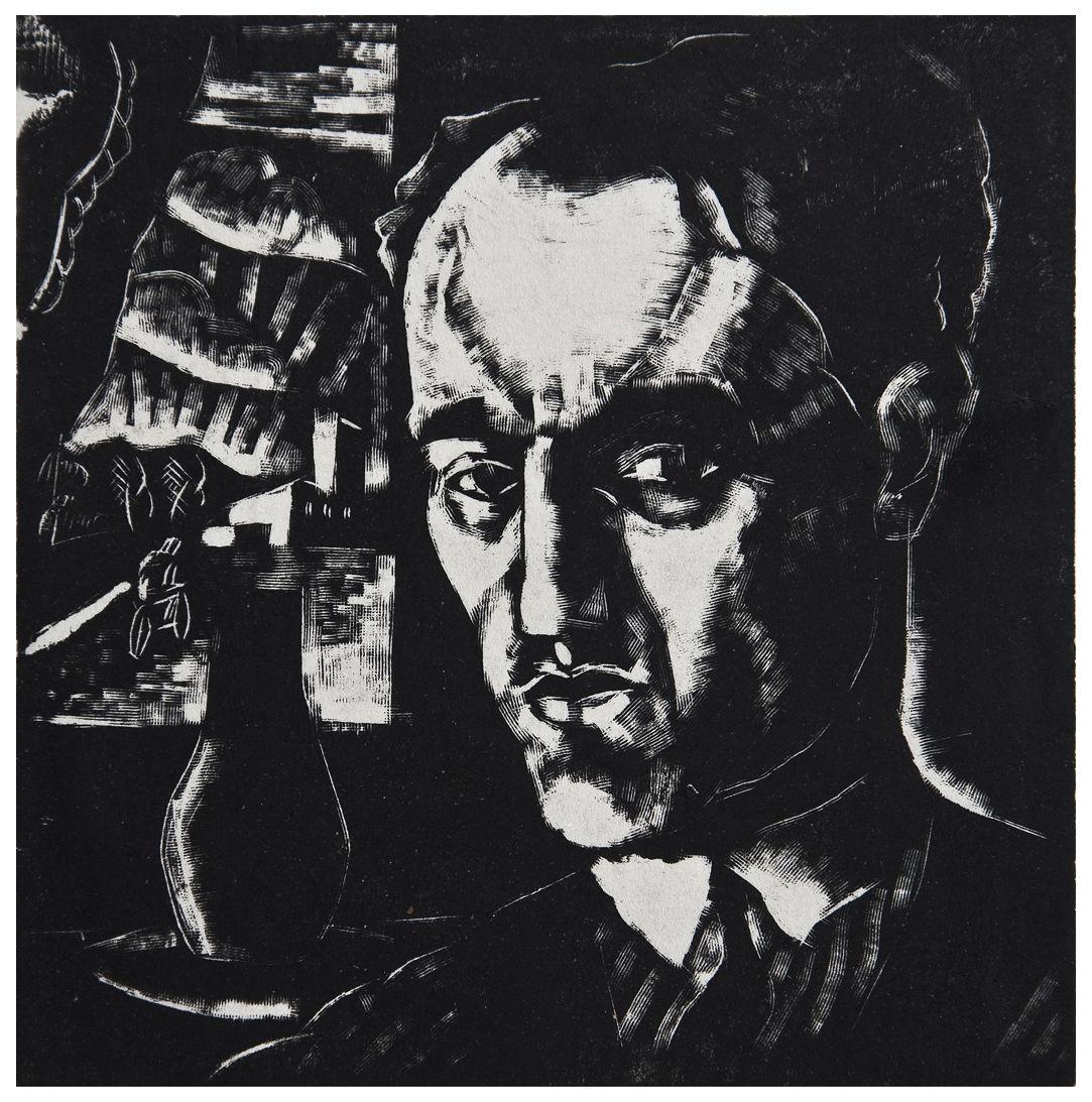 Людвік Тирович. Автопортрет, 1929, дереворит