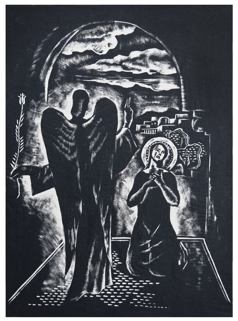Людвік Тирович. Благовіщення, 1933, дереворит