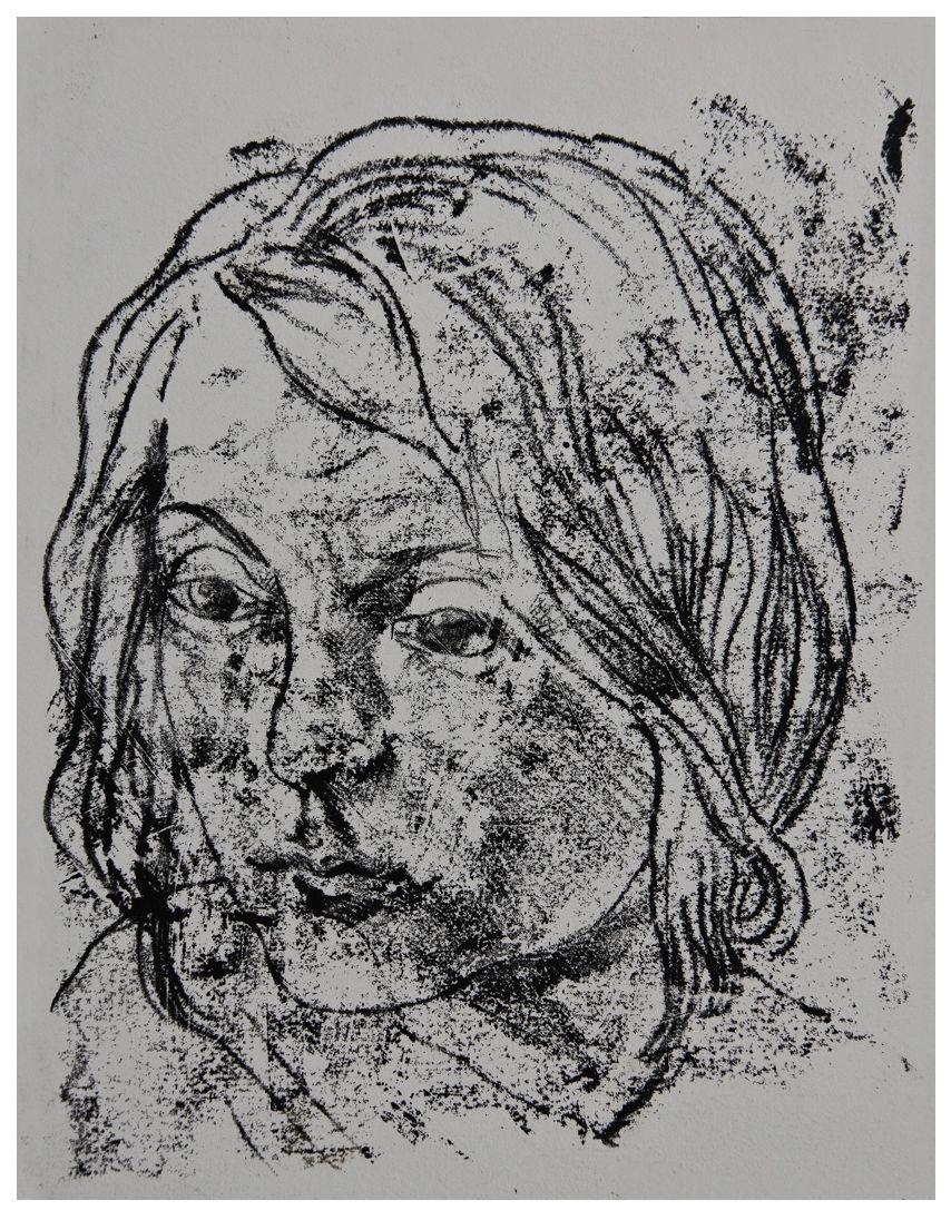 Людвік Тирович. Дівчина, 1928, гравюра на металі