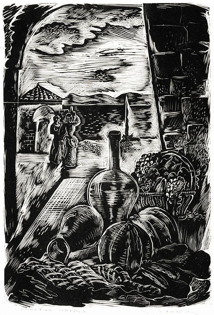 Людвік Тирович. Натюрморт, 1930-ті, дереворит