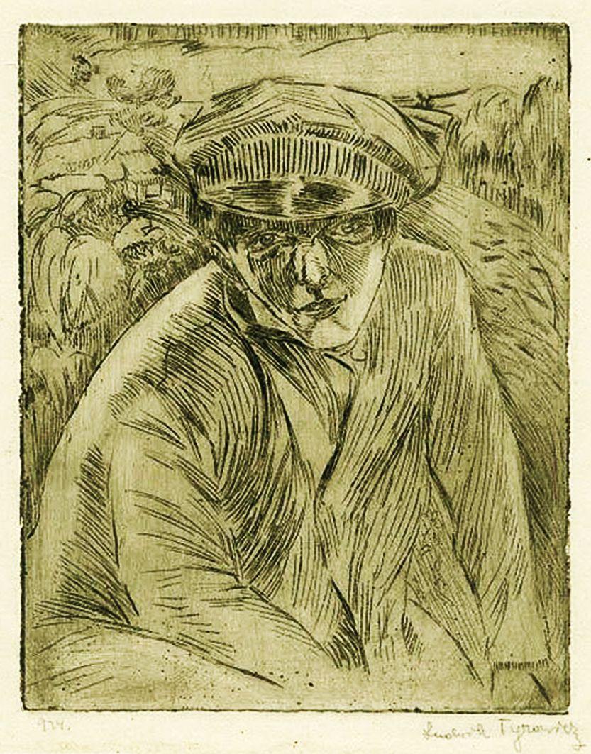 Людвік Тирович. Портрет юнака, 1924, офорт