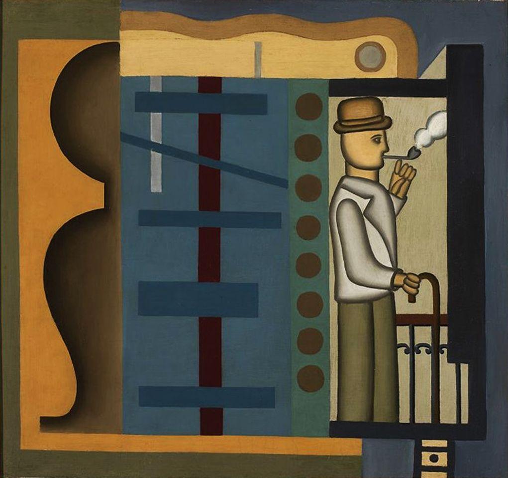 Генріх Штренг (Марк Влодарський). Пан з люлькою, 1926. Холст, масло, NMW