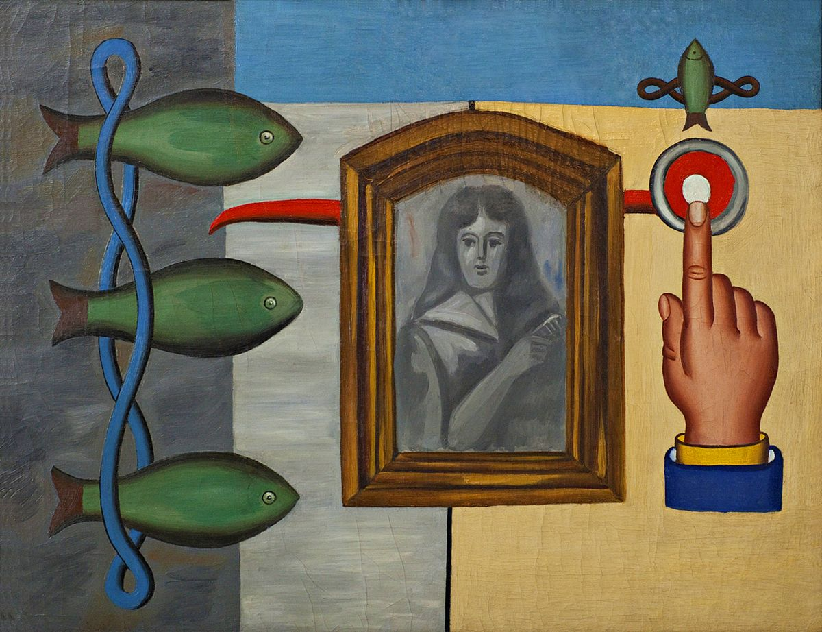 Генріх Штренг (Марк Влодарський). Риби і портрет, 1928