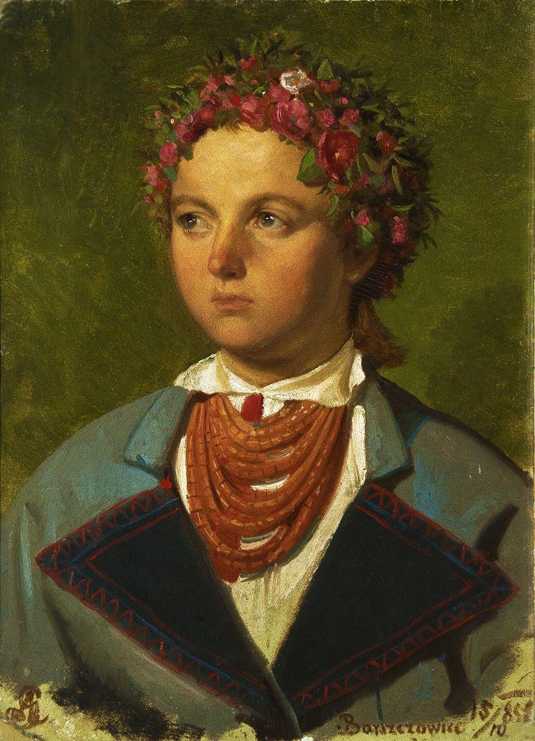 Артур Ґроттґер. Дівчина з Боршевич, 1860. Полотно, олія, ЛНГМ