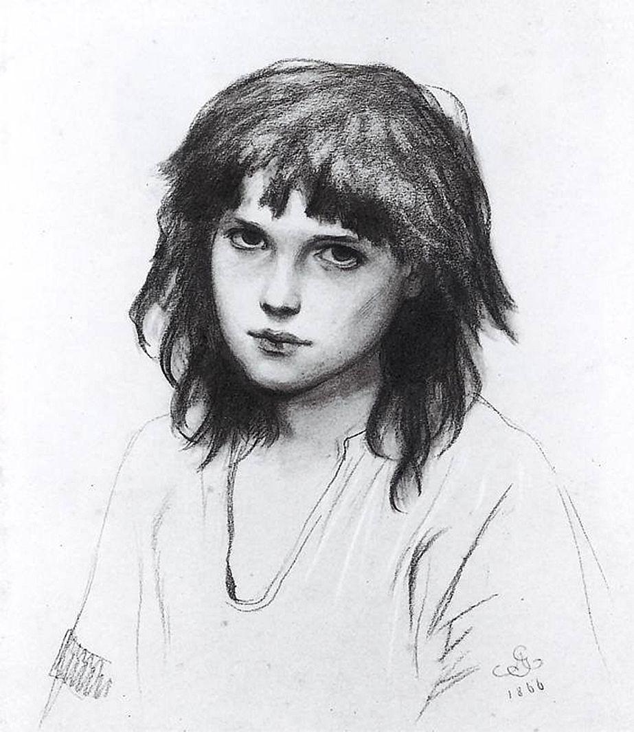 Артур Ґроттґер. Гуцулка в голодний рік, 1866