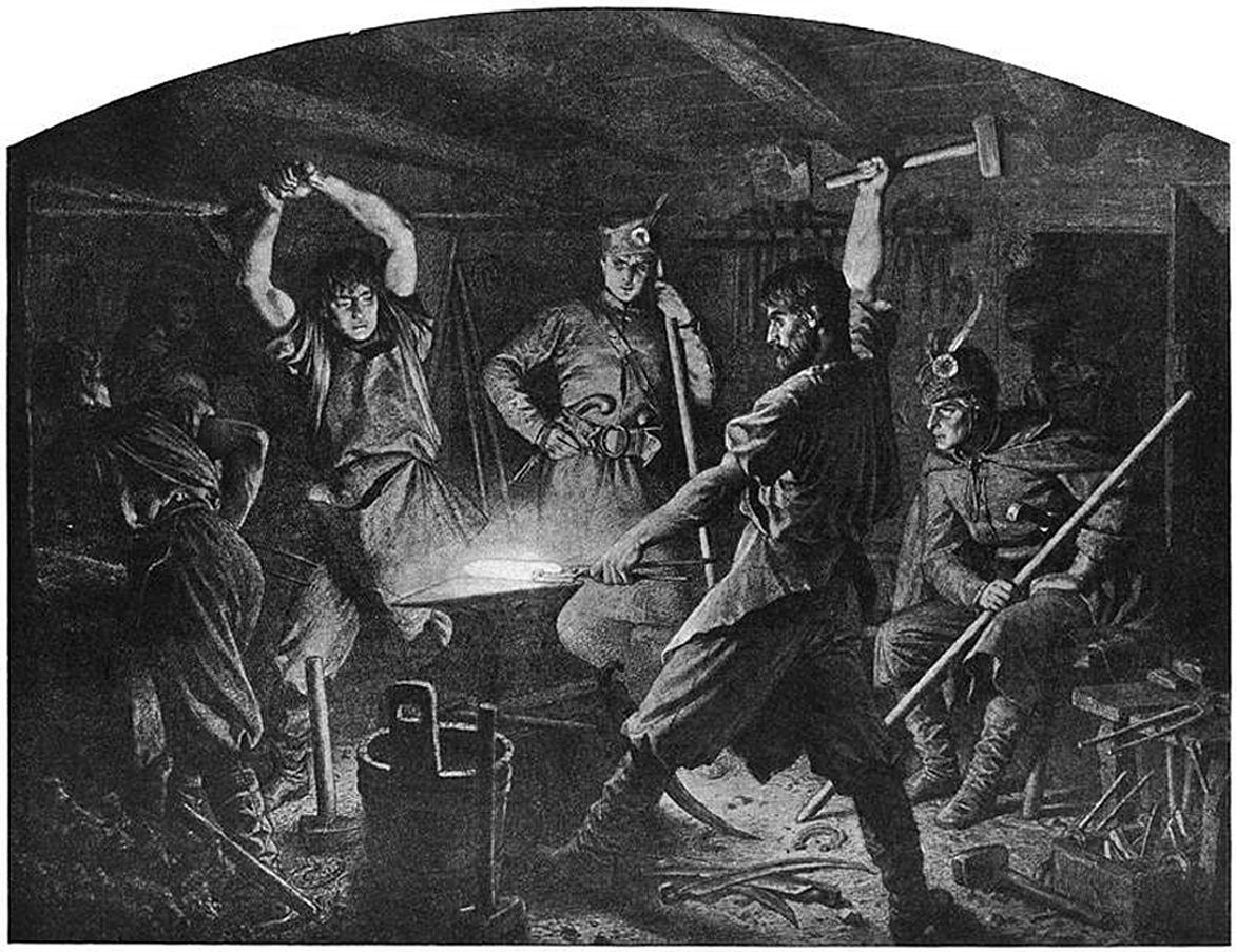Артур Ґроттґер. Кування кіс, 1863