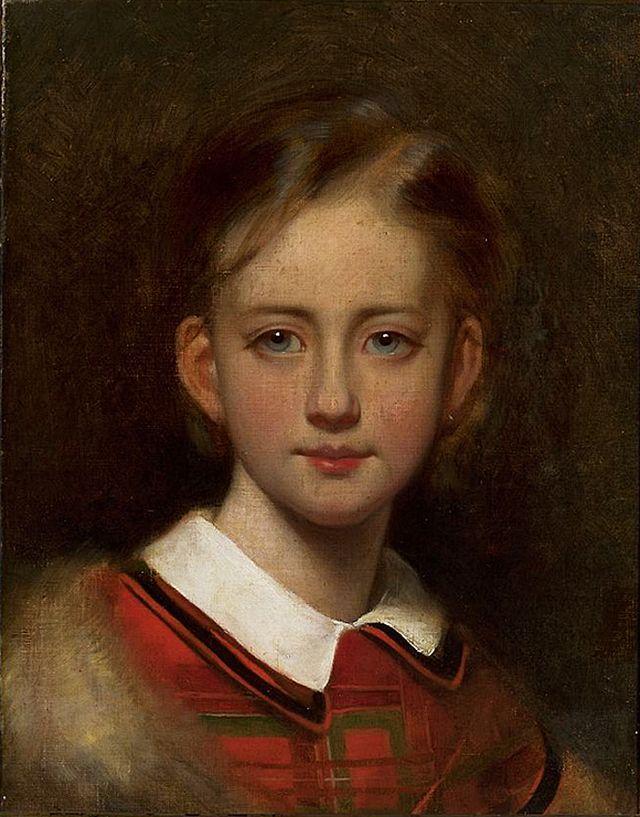 Артур Ґроттґер. Портрет дівчини. Полотно, олія, NMW