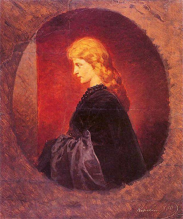 Артур Ґроттґер. Портрет рудоволосої, 1865, NMK