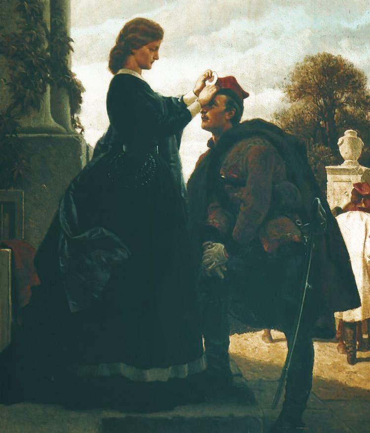 Артур Ґроттґер. Проводи повстанця, 1866. Полотно, олія, MNK