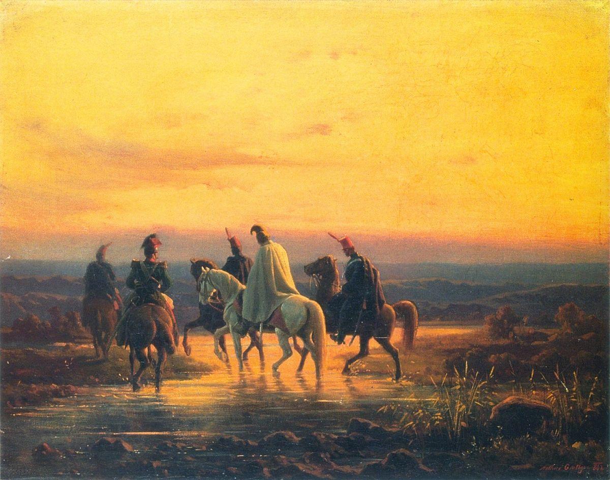 Артур Ґроттґер. У розвідці, 1862. Полотно, олія, ЛНГМ