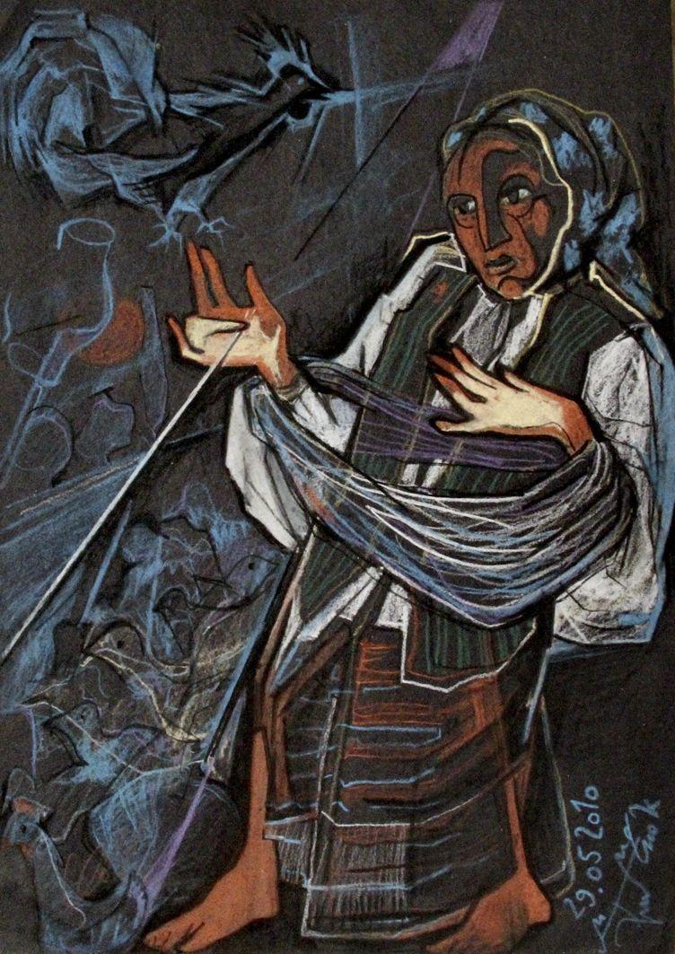 Микола Грималюк. Тривога, 2010, пастель