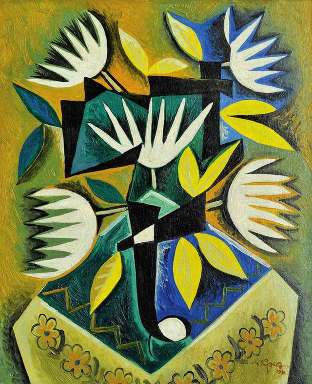 Микола Кристопчук. Стилізовані квіти, 1991
