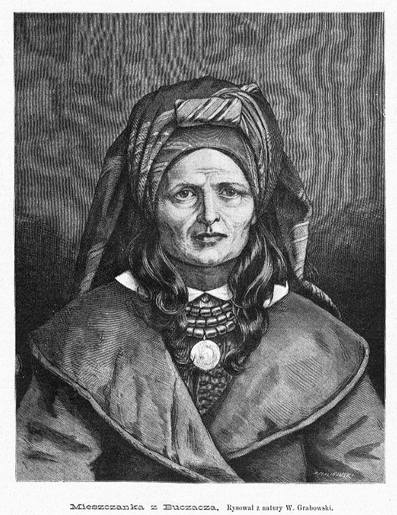 Войцех Грабовський. Міщанка з Бучача, 1885