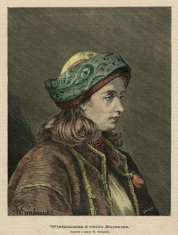 Войцех Грабовський. Селянка з околиць Бучача, 1885