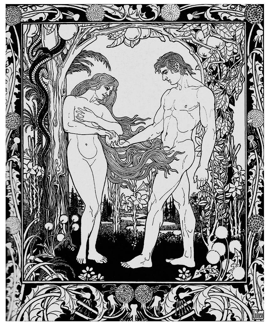 Ефраїм Моше Лілієн. Адам і Єва