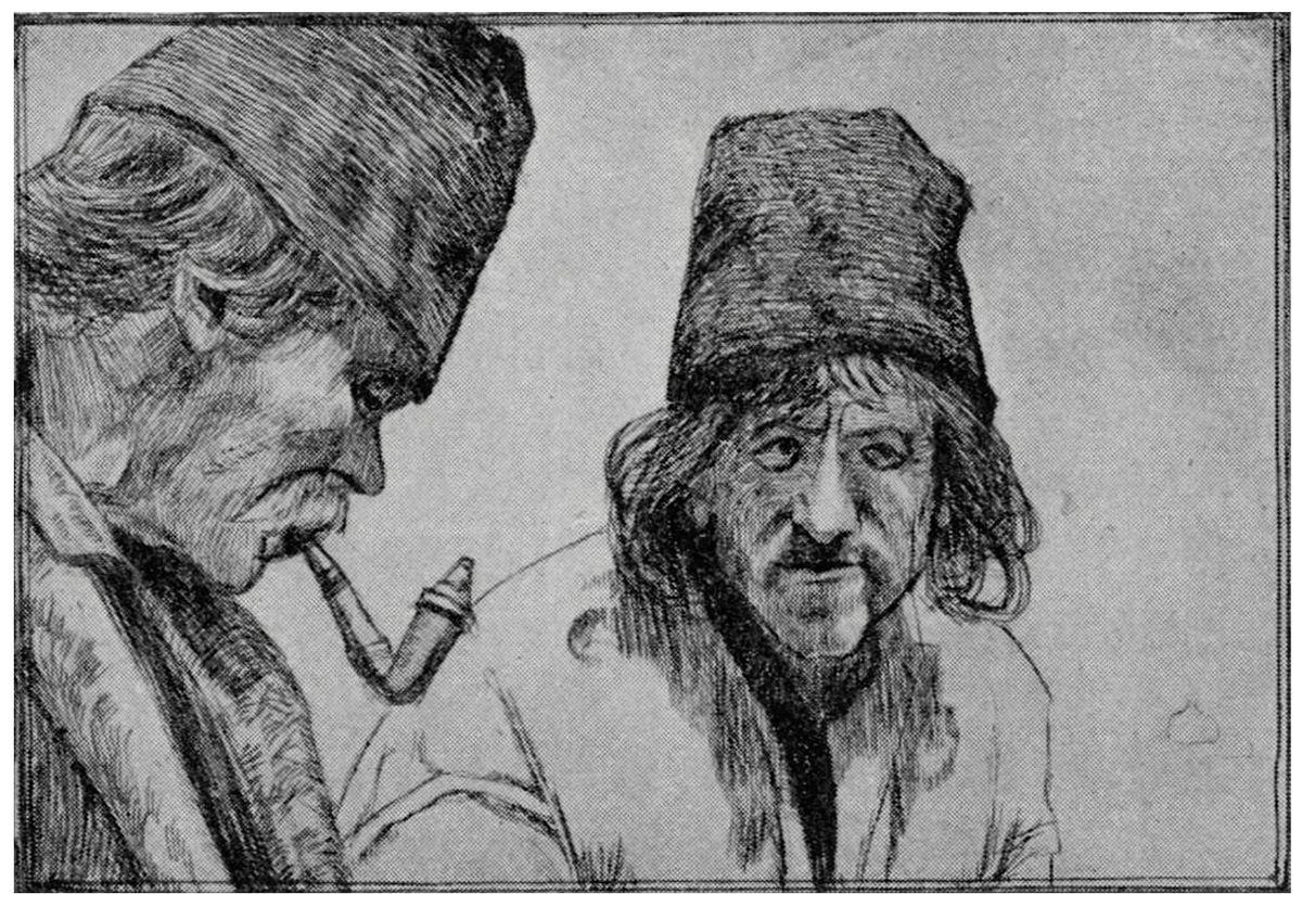 Ефраїм Моше Лілієн. Галицькі селяни, 1890-ті, гравюра