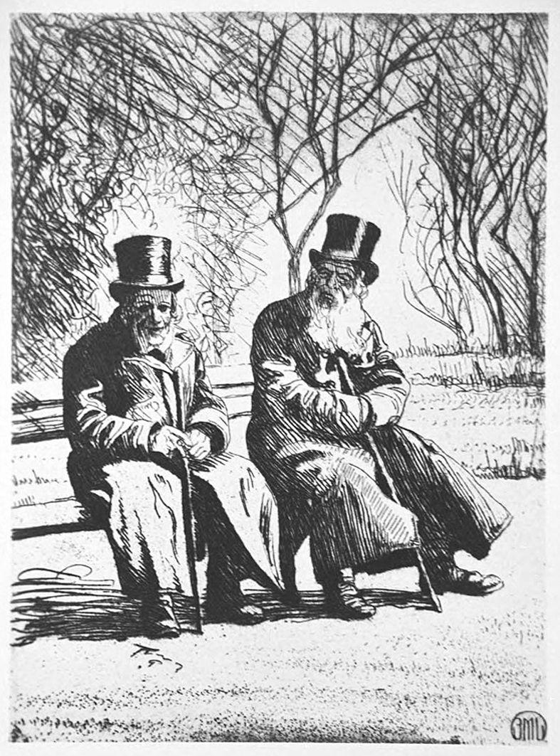 Ефраїм Моше Лілієн. Львів. Два літніх пана, 1912