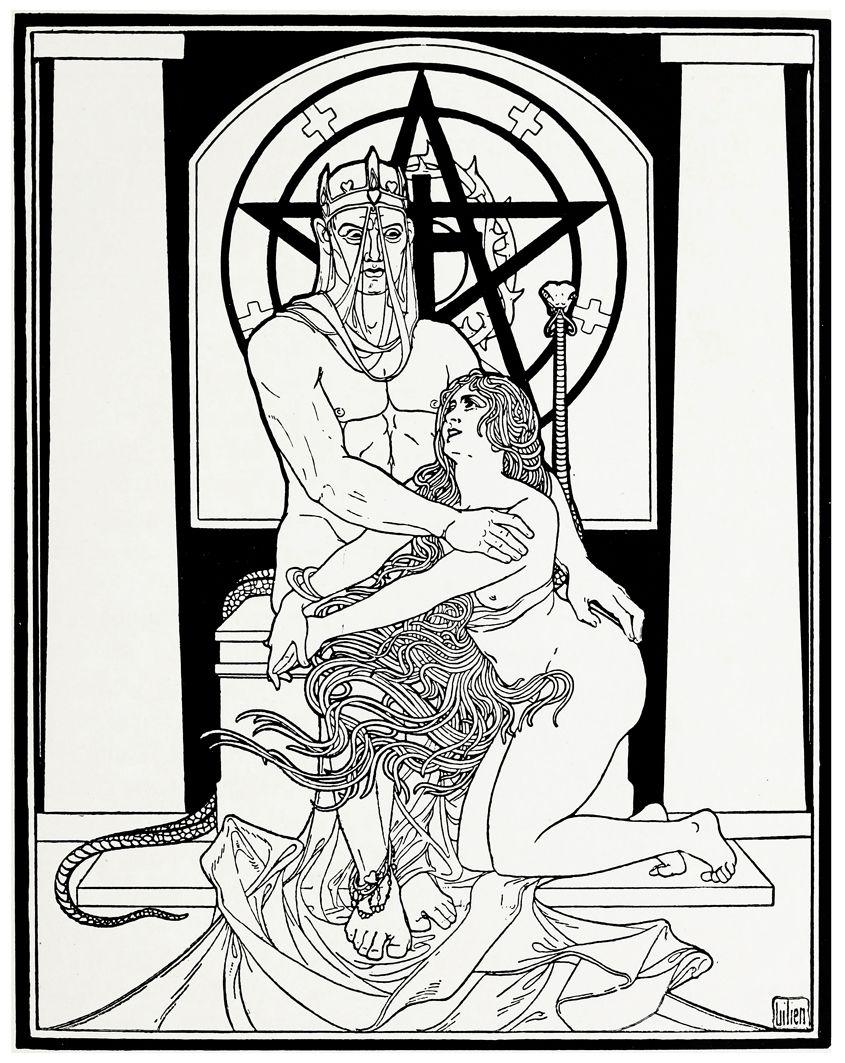 Ефраїм Моше Лілієн. Окультизм та любов, 1890-ті