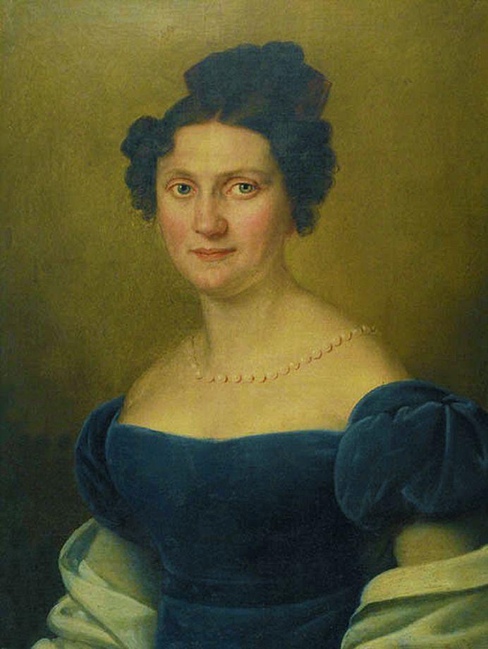 Карл Готлиб Швайкарт. Дама в синій сукні, 1824