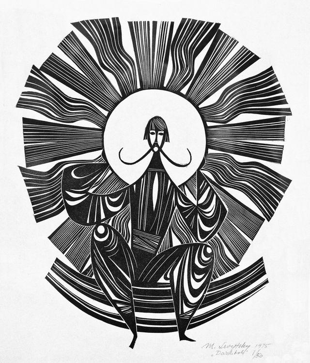 Мирон Левицький. Дажбог, 1975, лінорит