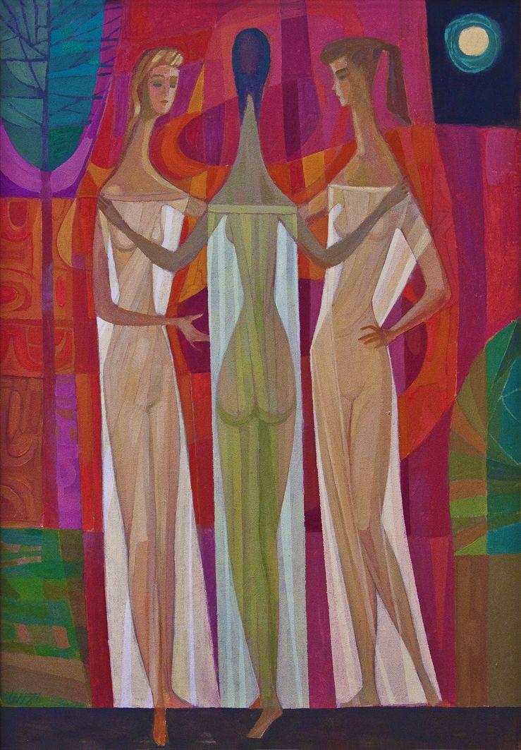 Мирон Левицький. Три грації, 1986